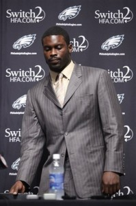 Eagles Vick Signs Football