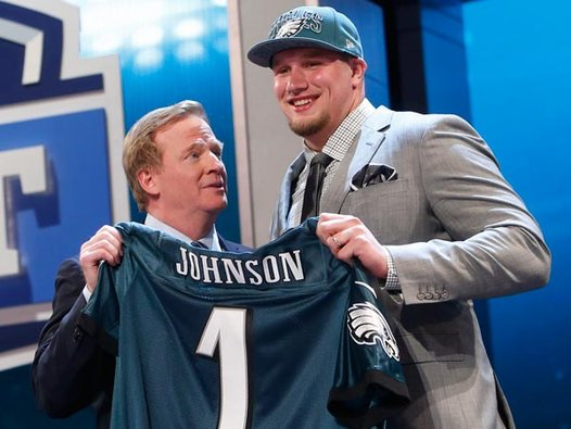 Offensive tackle Lane Johnson is the first player the Eagles selected in the top 5 since Donovan McNabb