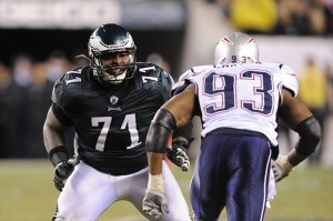 OT Jason Peters would provide a big boost to the offense if he returns to his 2011 form