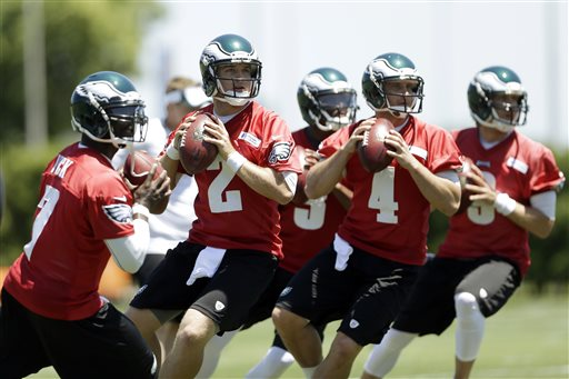 Chip Kelly has not settled on a starting QB for the 2013 season, causing some frustration in the locker room.