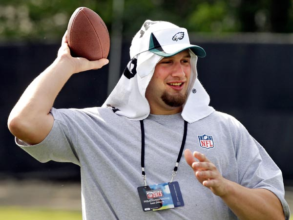 OT Lane Johnson is the last Eagles rookie to have signed a contract, and did so just in time for training camp