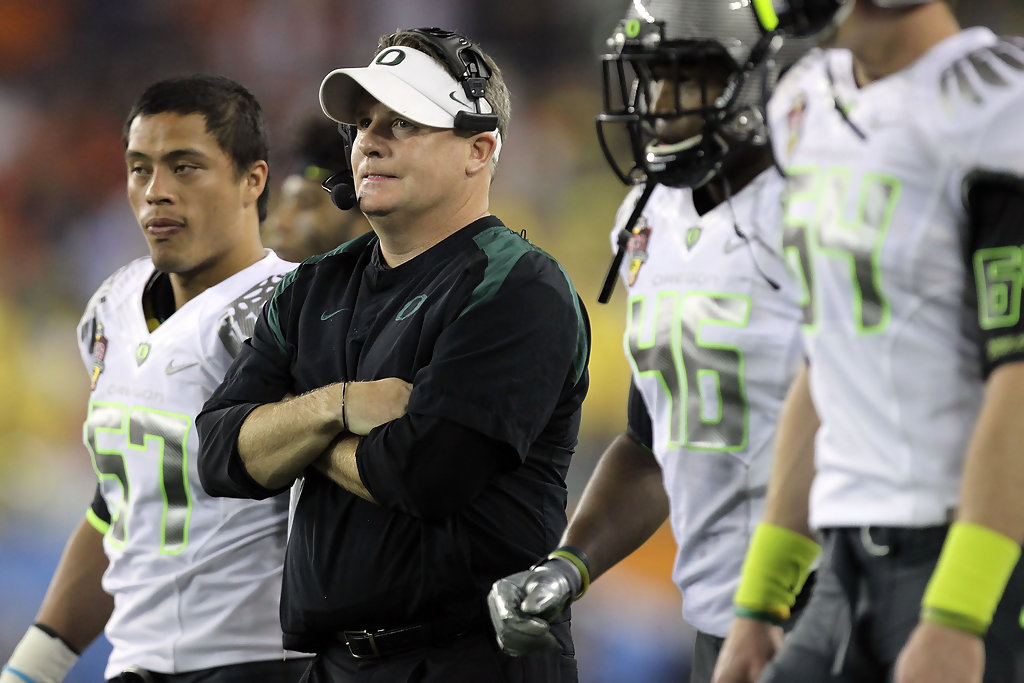 Chip Kelly's Oregon offenses usually lit up the scoreboard, but didn't always show up against top defenses.