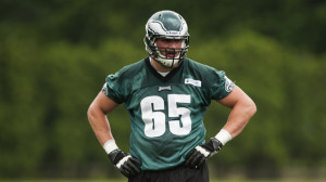 Lane Johnson, the 4th overall pick, is penciled in as the team's starting right tackle.