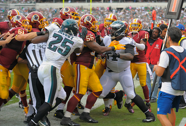 The Washington Redskins play the Philadelphia Eagles