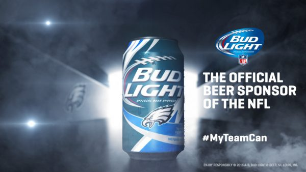 Philadelphia Eagles Bud Light Can