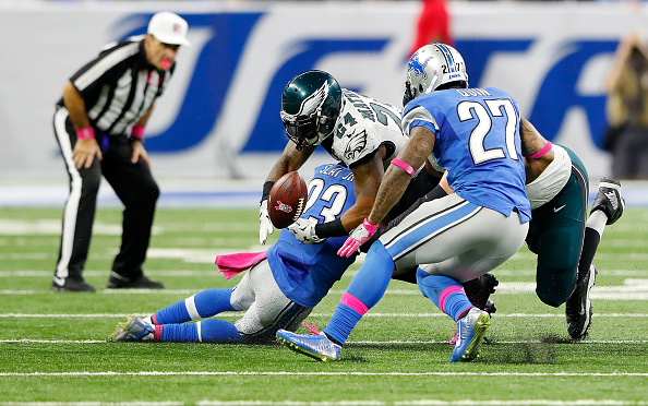 Eagles Fumble Away Chance at 4-0; Fall to Lions 24-23